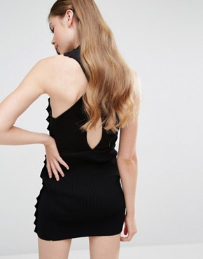 photo Addicted To Love Ribbed Dress by Alice McCall, color Black - Image 2