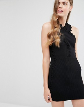 photo Addicted To Love Ribbed Dress by Alice McCall, color Black - Image 1