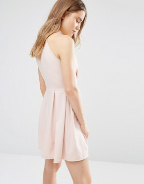 photo Skater Dress with Neck Detail by Wal G, color Blush - Image 2