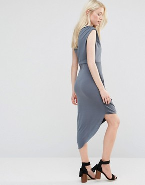 photo Dress with Asymmetric Hem by Wal G, color Grey - Image 2