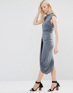 photo Dress with Asymmetric Hem by Wal G, color Grey - Image 1