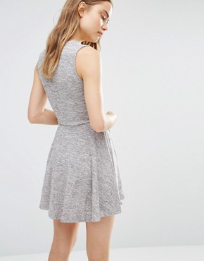 photo Skater Dress With Wrap Front by Wal G, color Grey - Image 2