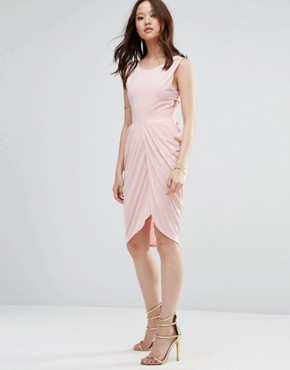 photo Dress With Rouched Skirt And Cross Back by Wal G, color Blush - Image 1