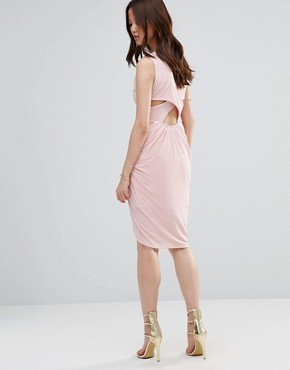 photo Dress With Rouched Skirt And Cross Back by Wal G, color Blush - Image 2