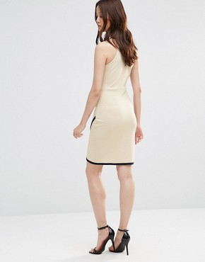 photo Dress with Wrap Skirt by Wal G, color Dark Cream - Image 2