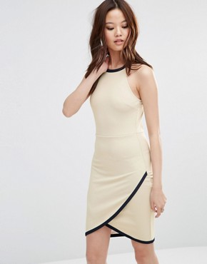 photo Dress with Wrap Skirt by Wal G, color Dark Cream - Image 1