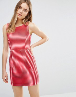 photo Dress In Stripe by Wal G, color Red - Image 1
