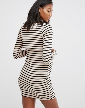 photo Double Layer Stripe Dress by Missguided Maternity, color  - Image 2