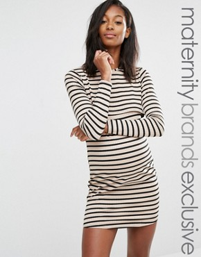 photo Double Layer Stripe Dress by Missguided Maternity, color  - Image 1