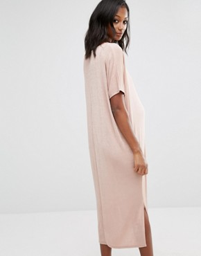 photo Oversized Slinky Dress by Missguided Maternity, color Nude - Image 2