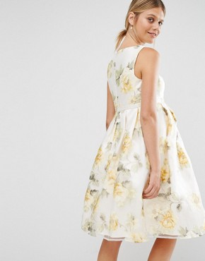 photo Floral Organza Prom Dress by Chi Chi London Maternity, color  - Image 2
