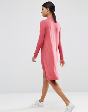photo Knit Tunic Dress in Cashmere Mix by ASOS, color Blush - Image 2