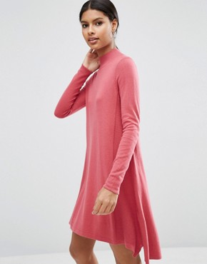 photo Knit Tunic Dress in Cashmere Mix by ASOS, color Blush - Image 1