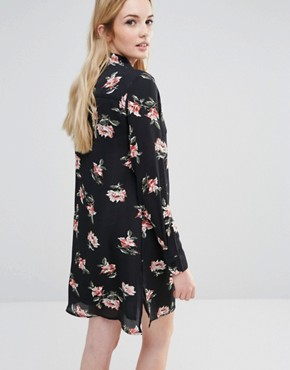 photo Allover Bold Floral Shirt Dress by Fashion Union Tall, color  - Image 2