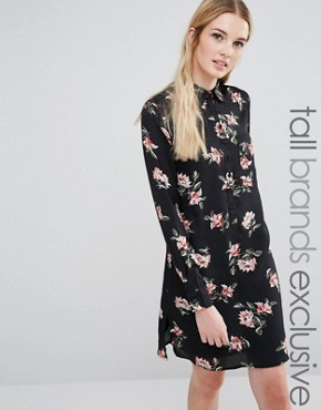 photo Allover Bold Floral Shirt Dress by Fashion Union Tall, color  - Image 1