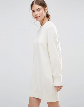 photo Rosa Jumper Dress by Wood Wood, color Off White - Image 1