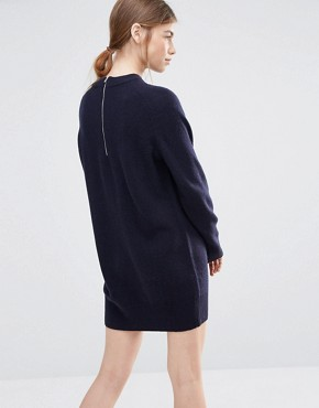 photo Rosa Jumper Dress in Navy by Wood Wood, color Navy - Image 2