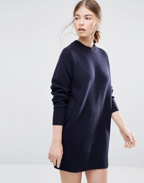 photo Rosa Jumper Dress in Navy by Wood Wood, color Navy - Image 1