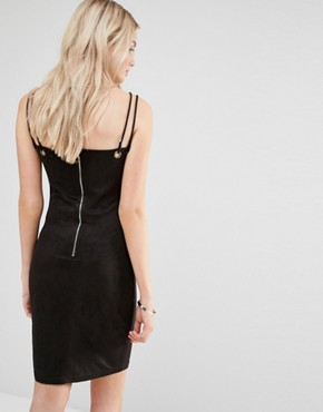 photo Pencil Dress With Double Strap by Love & Other Things, color Black - Image 2
