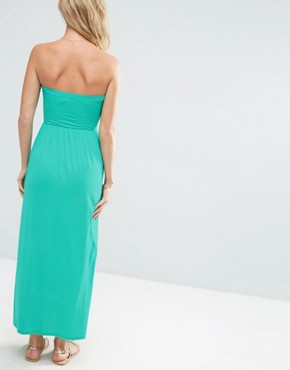 photo Bandeau Maxi Dress by ASOS, color Green - Image 2