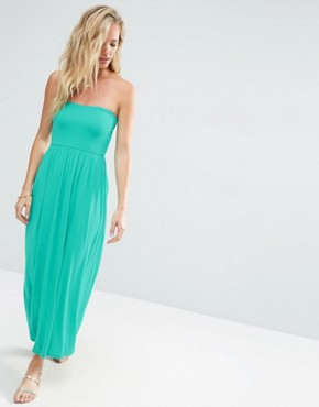 photo Bandeau Maxi Dress by ASOS, color Green - Image 1