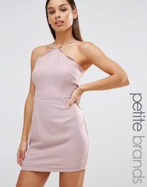 photo Exclusive Scallop Bodycon Dress by Missguided Petite, color Mauve - Image 1