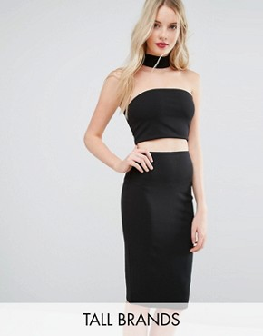 photo Choker Midi Dress by Missguided Tall, color Black - Image 1