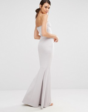 photo Fishtail Maxi Dress by Missguided Tall, color Ice Grey - Image 2
