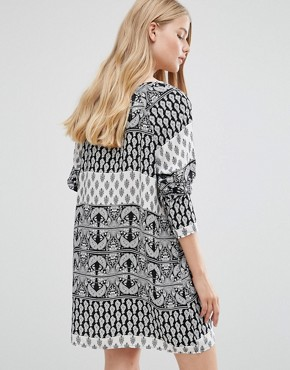 photo Nancy Boho Printed Tunic Dress by Vero Moda, color Black - Image 2