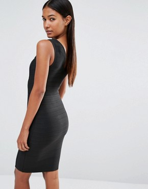 photo Bandage Dress with Hook and Eye by WOW Couture, color Black - Image 2