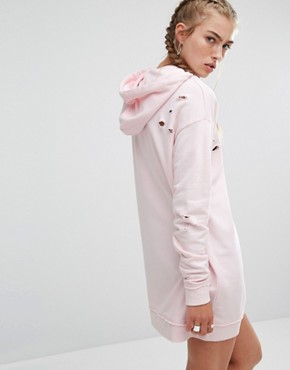 photo Baby Pink Sweater Dress by Hoxton Haus, color Baby Pink - Image 2