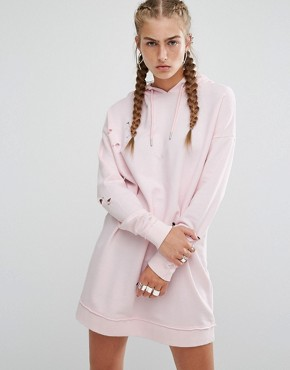 photo Baby Pink Sweater Dress by Hoxton Haus, color Baby Pink - Image 1