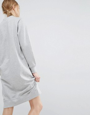 photo High Neck Sweat Dress by Dr Denim, color Light Grey - Image 2