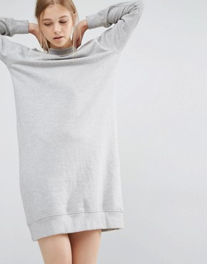 photo High Neck Sweat Dress by Dr Denim, color Light Grey - Image 1