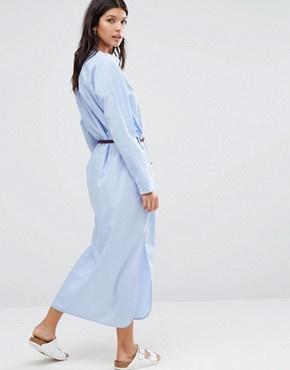 photo Maxi Shirt Dress by Maison Scotch, color Powder Blue - Image 2