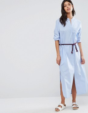 photo Maxi Shirt Dress by Maison Scotch, color Powder Blue - Image 1