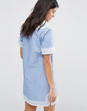 photo Mid Length Summer Dress by Maison Scotch, color Blue - Image 2