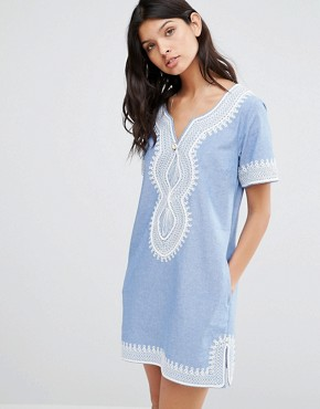 photo Mid Length Summer Dress by Maison Scotch, color Blue - Image 1