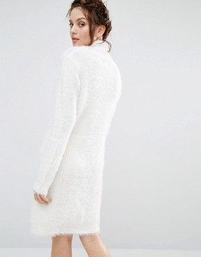photo Oversized Jumper Dress by Willow and Paige, color Cream - Image 2
