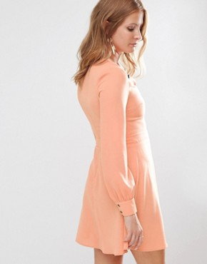 photo Button Detail Mini Dress by Millie Mackintosh, color Pink - Image 2