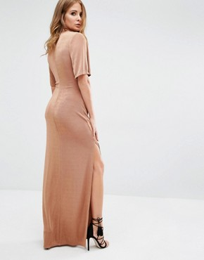 photo Cut Out Dress by Millie Mackintosh, color Tan - Image 2