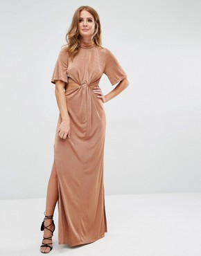 photo Cut Out Dress by Millie Mackintosh, color Tan - Image 1
