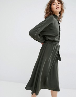 photo Kate Green Midi Dress by Gestuz, color Green - Image 1