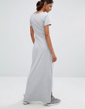 photo Knot Front Jersey Maxi Dress by Daisy Street Tall, color Grey - Image 2