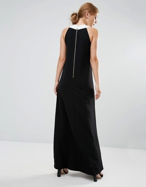 photo Hilarny Maxi Column Dress with Bow Front by Ted Baker, color Black - Image 2