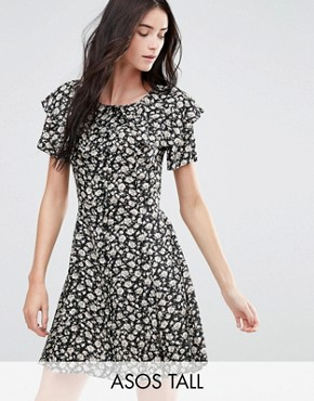 photo Ditsy Ruffle Mini Tea Dress by ASOS TALL, color  - Image 1