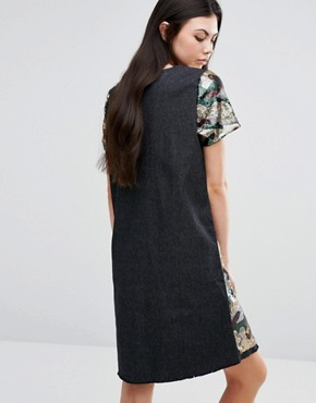 photo Sequin Oversized Dress In Camo Print by Liquor & Poker Tall, color Camo - Image 2