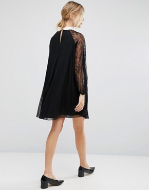 photo Mini Swing Dress with Embellished Neck by ASOS Maternity, color Black - Image 2