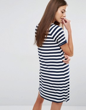 photo T-Shirt Stripe Dress by Abercrombie & Fitch, color  - Image 2