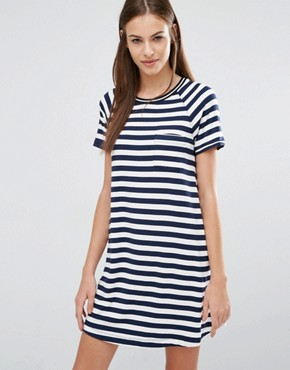 photo T-Shirt Stripe Dress by Abercrombie & Fitch, color  - Image 1